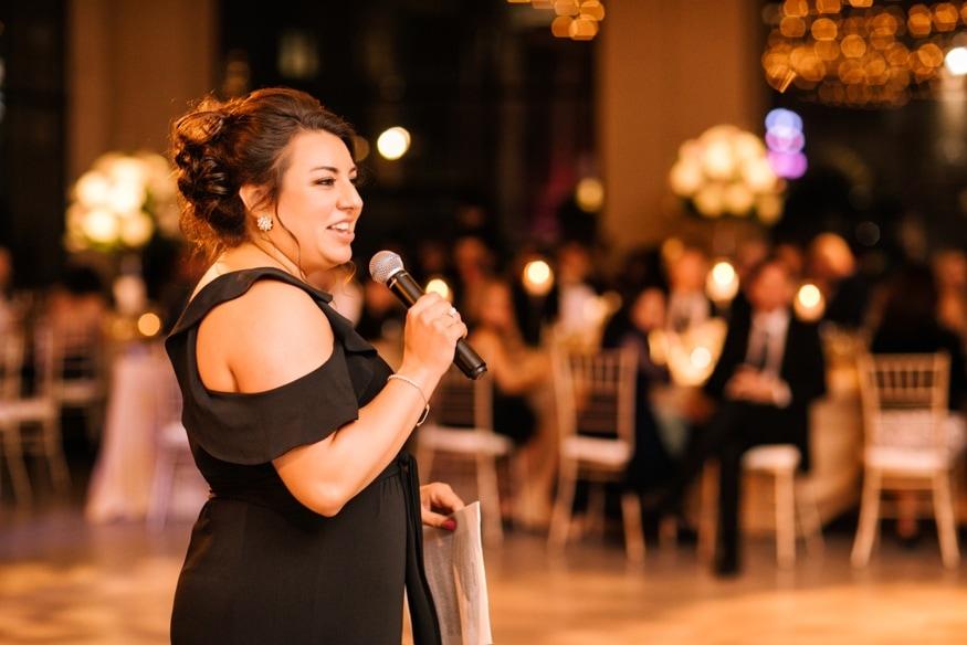 Maid of Honor speech at Moulin Philadelphia wedding.