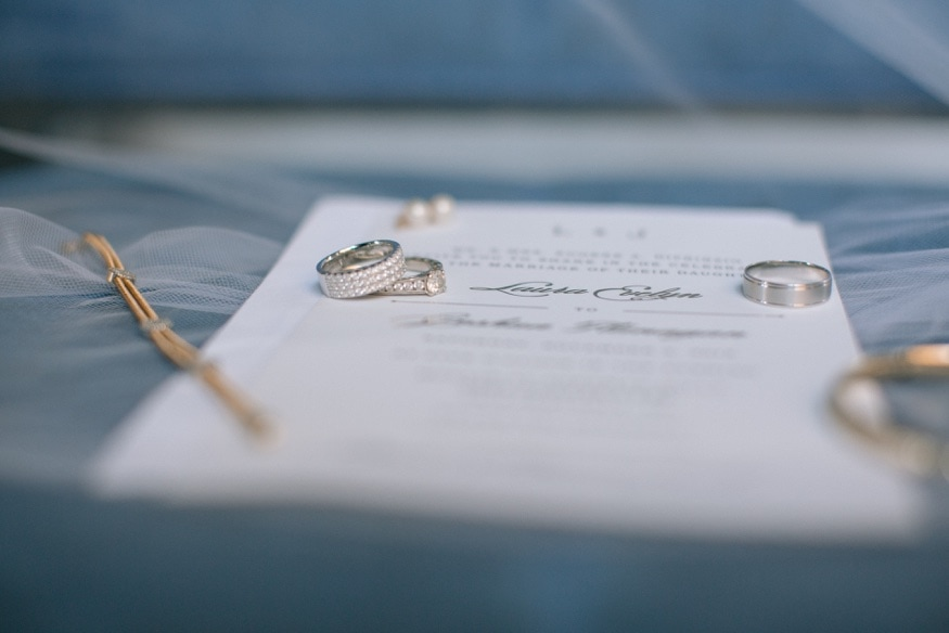 Wedding rings from Safian and Rudolph Jewelers.