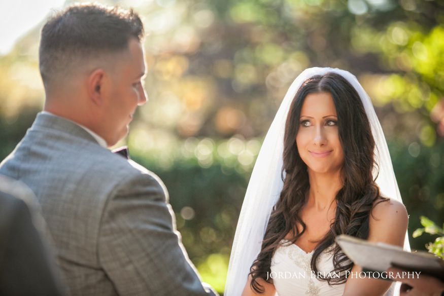 bride and groom at knowlton mansion wedding ceremony