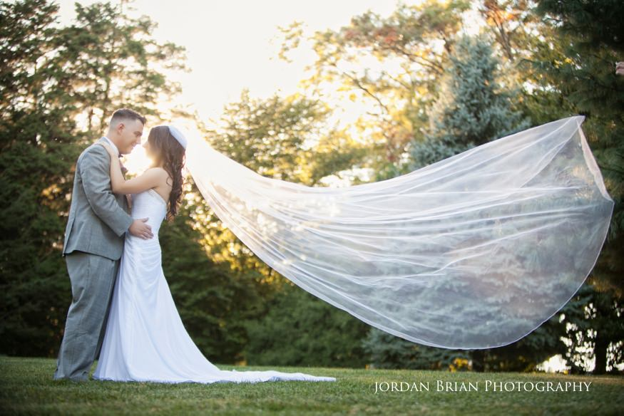 bride and groom portrait at knowlton mansion wedding
