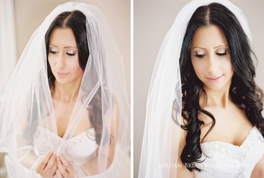 portrait of bride before wedding