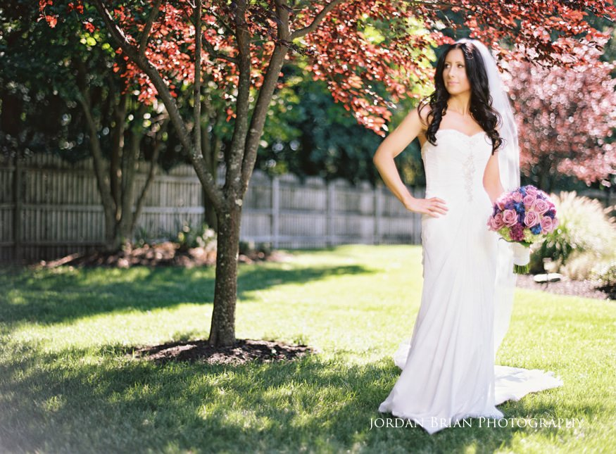 portait of bride before wedding at knowlton mansion