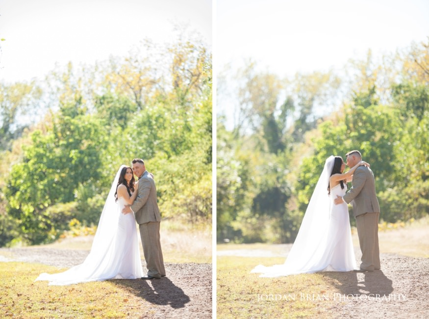 bride and groom portraits at palmyra nature cove park