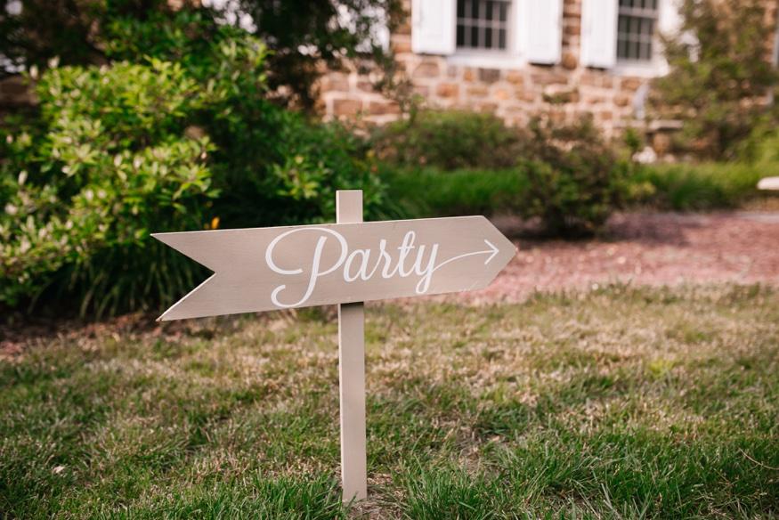 Reception details of New Jersey backyard wedding.
