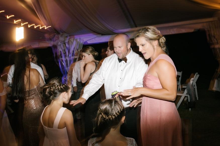 Reception at New Jersey backyard wedding.