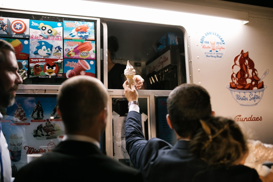Mister Softee at New Jersey backyard wedding.