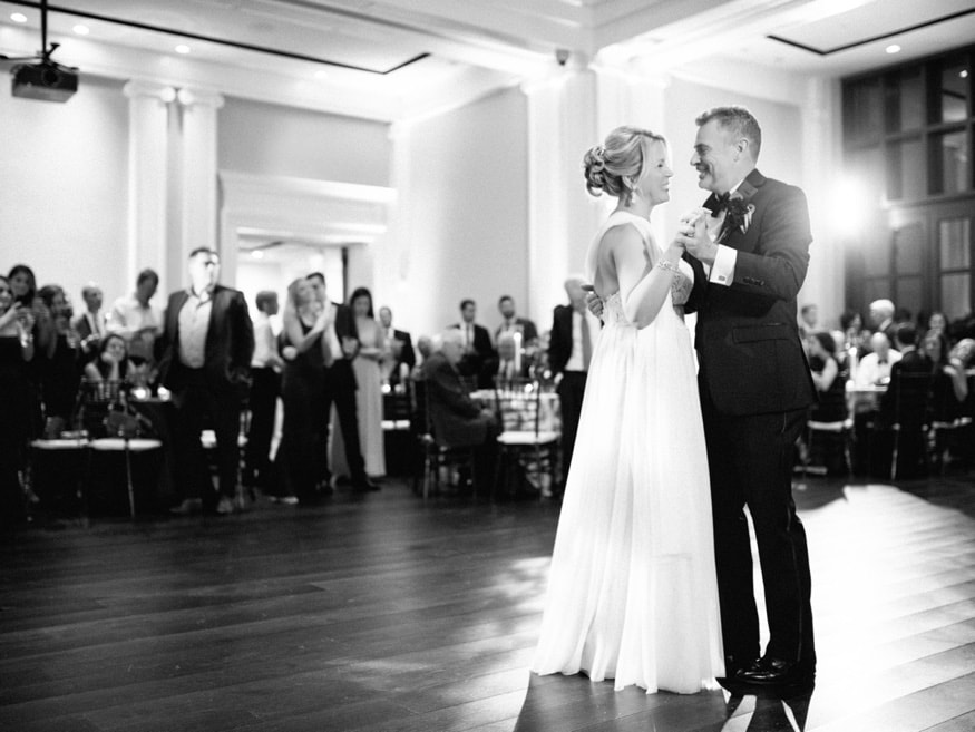First dance at the Museum of the American Revolution wedding.