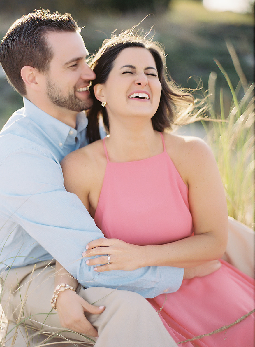 LBI engagement session at Barnegat Lighthouse.