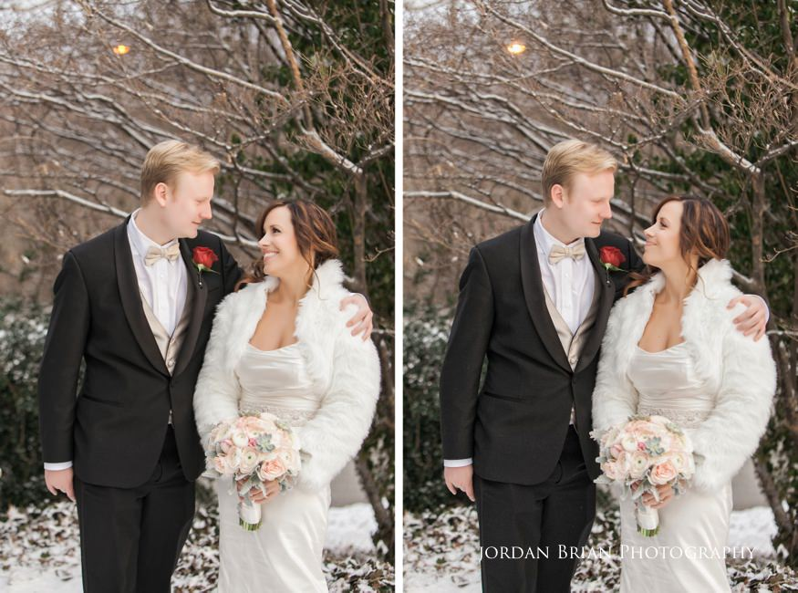 Man of honor and bride portrait at Fairmount Park Horticulture Center wedding.