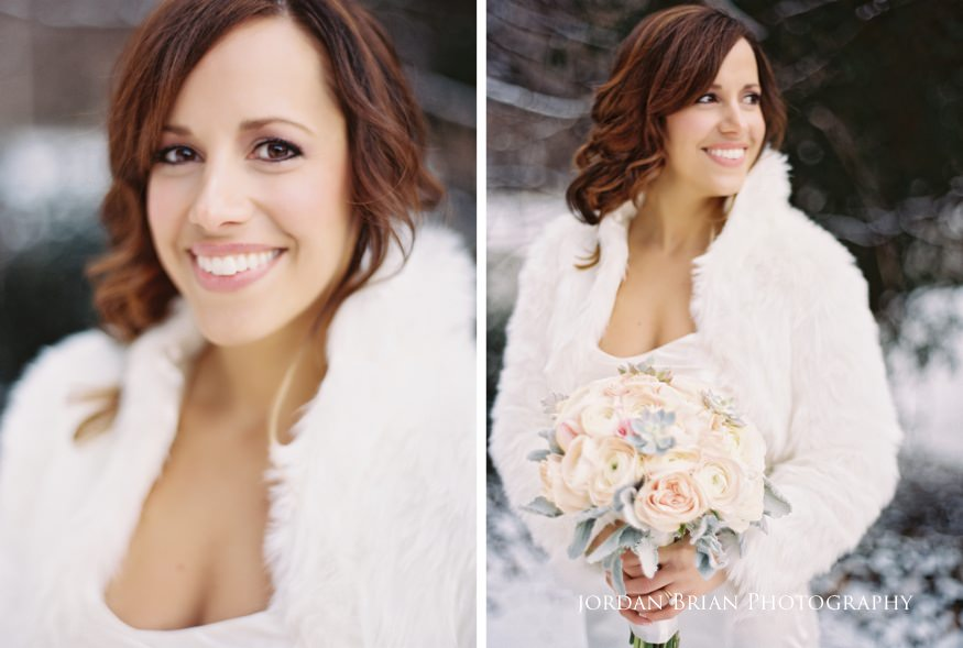Bridal portraits at at Fairmount Park Horticulture Center wedding.