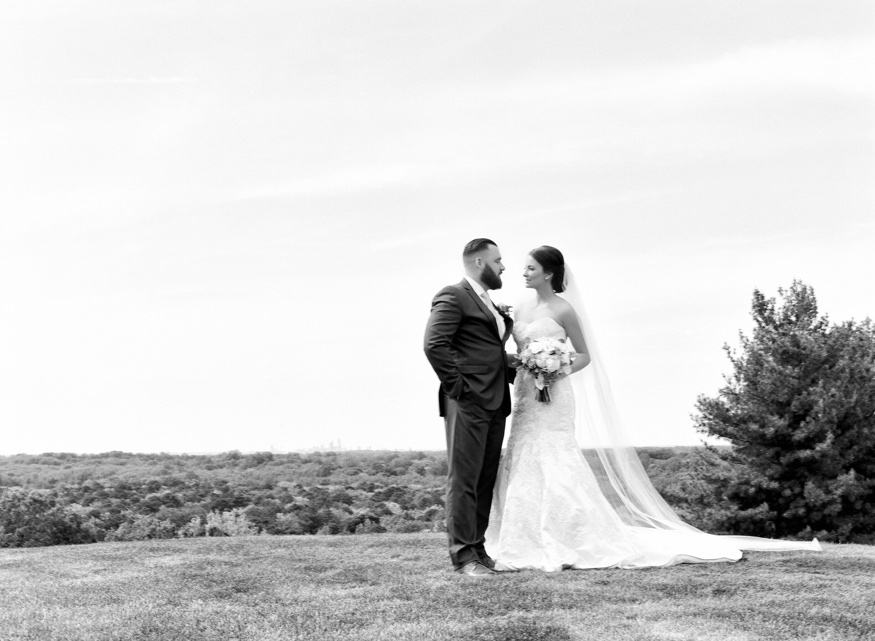Bride and groom portraits at Trump National Golf Club wedding.