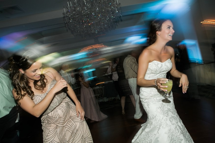 Reception dancing at Trump National Golf Club wedding.