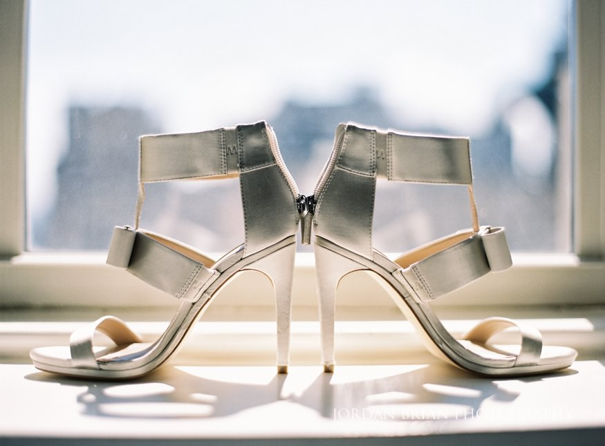 Brides wedding shoes from BCBG.