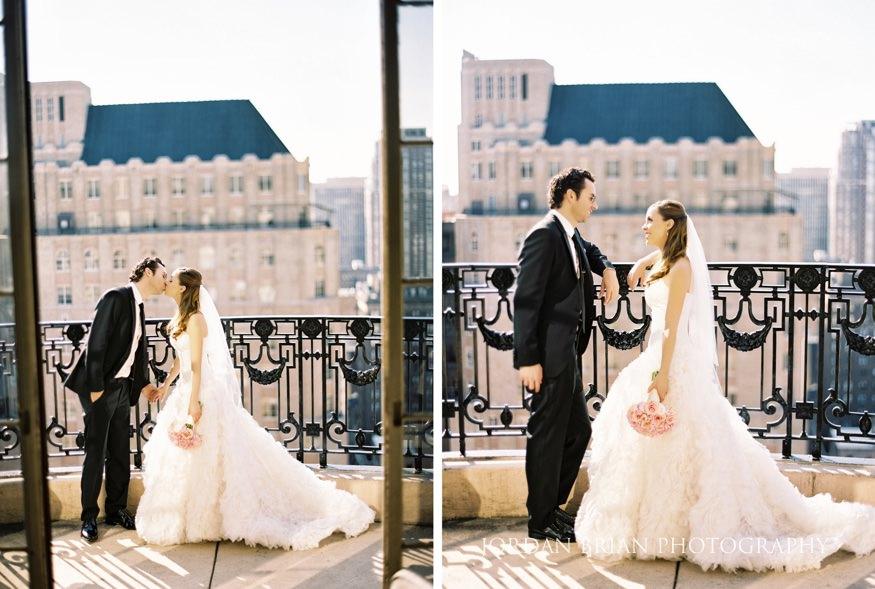 Bride and groom at Philadelphia Bellevue Hotel Wedding.