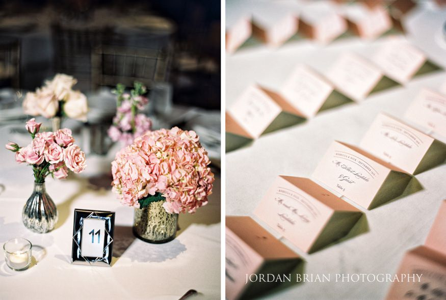 Table details at wedding reception at Bellevue Hotel Wedding.
