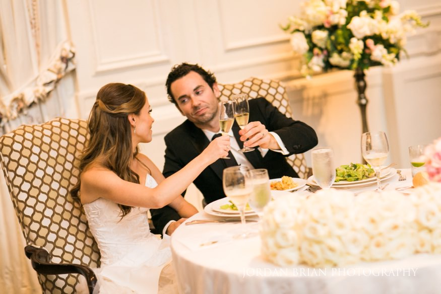 Toasts at Bellevue Hotel wedding reception.