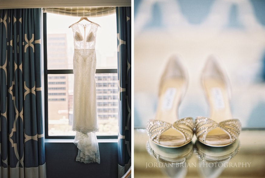 bride details at hotel monaco before curtis center wedding