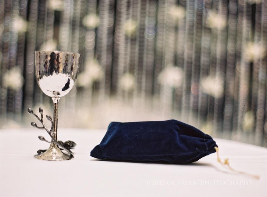 ceremony details at Atrium at the curtis center wedding in philadelphia