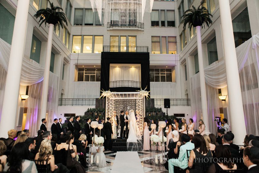 wedding ceremony at curtis center in philadelphia