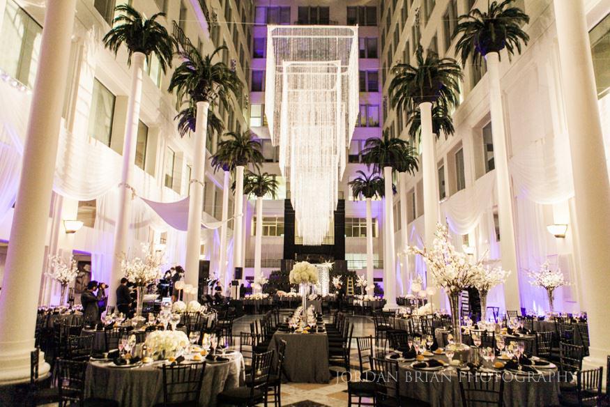 curtis center wedding reception details in philadelphia