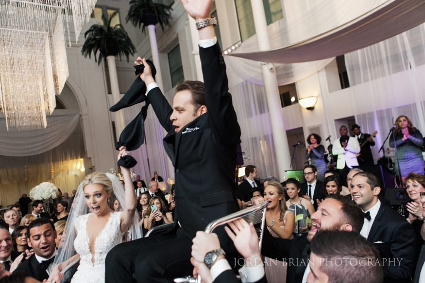 wedding hora at curtis center in philadelphia