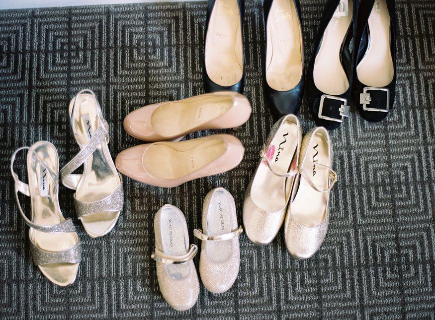 Wedding shoes at Ritz Carlton Philadelphia wedding.