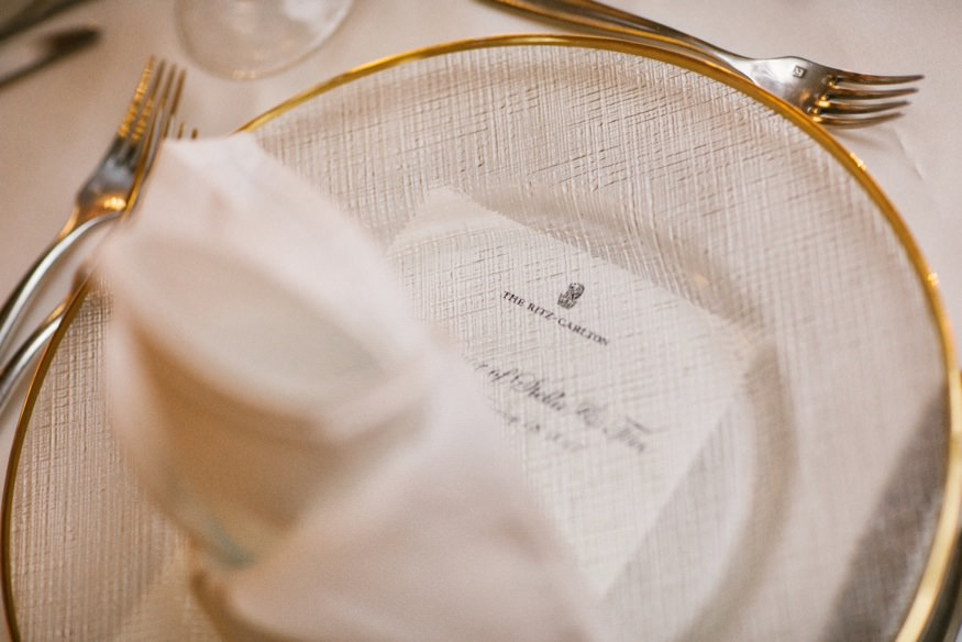 Wedding reception at Ritz Carlton Philadelphia.
