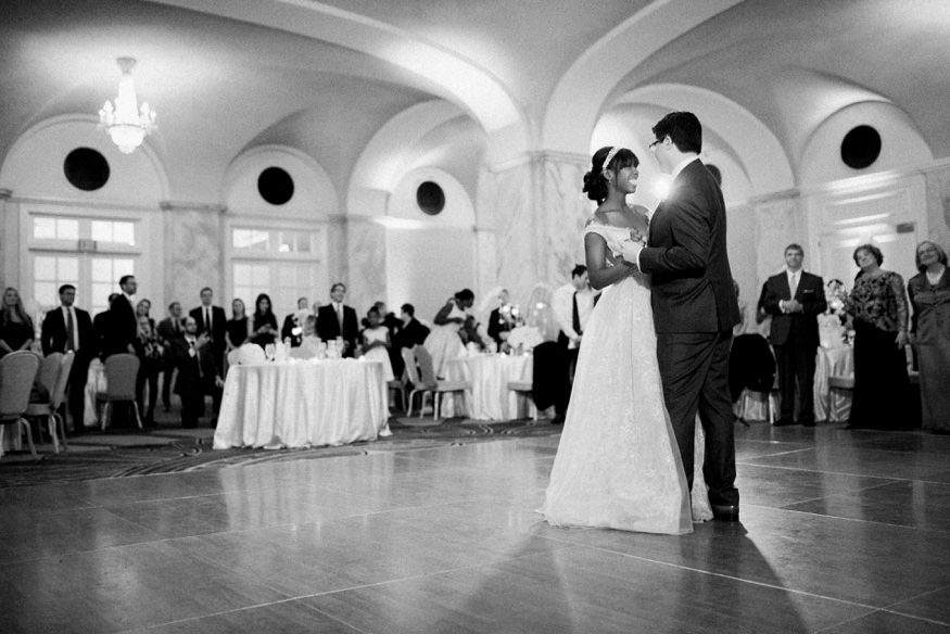 Bride and Groom first dance at Ritz Carlton Philadelphia wedding.