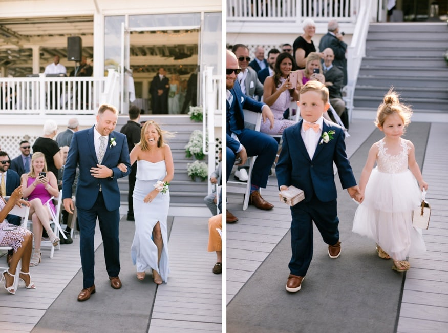 Outdoor wedding ceremony at Windows on the Water at Surfrider.
