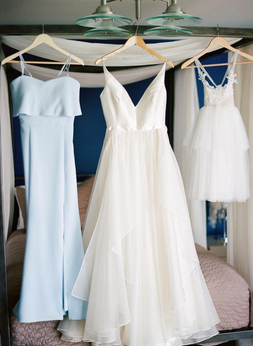 Bride's dress by Leanne Marshall for beach wedding at Windows on the Water Sea Bright.