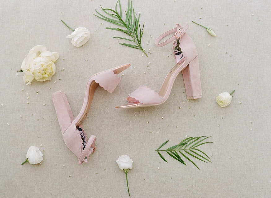 Bride's wedding shoes by Ted Baker.