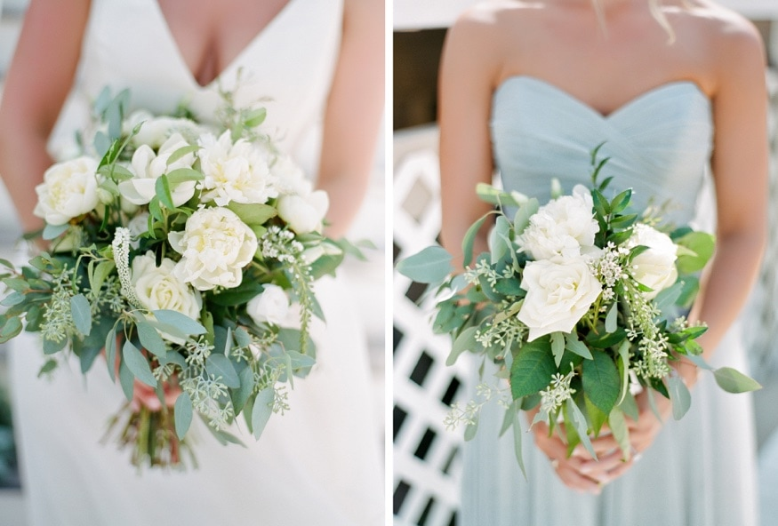 Bridal bouquets by In The Garden florist.