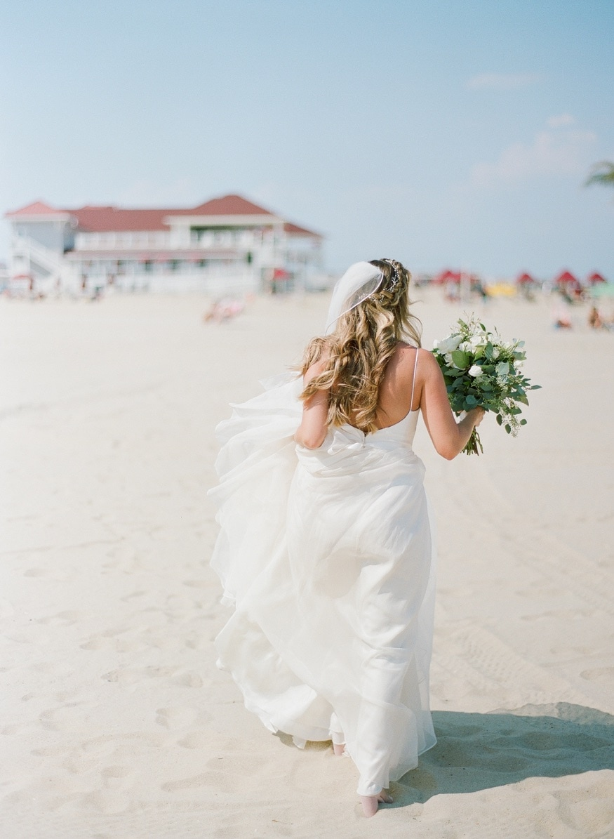 Bride's portraits at Windows on the Water at Surfrider Beach Club.