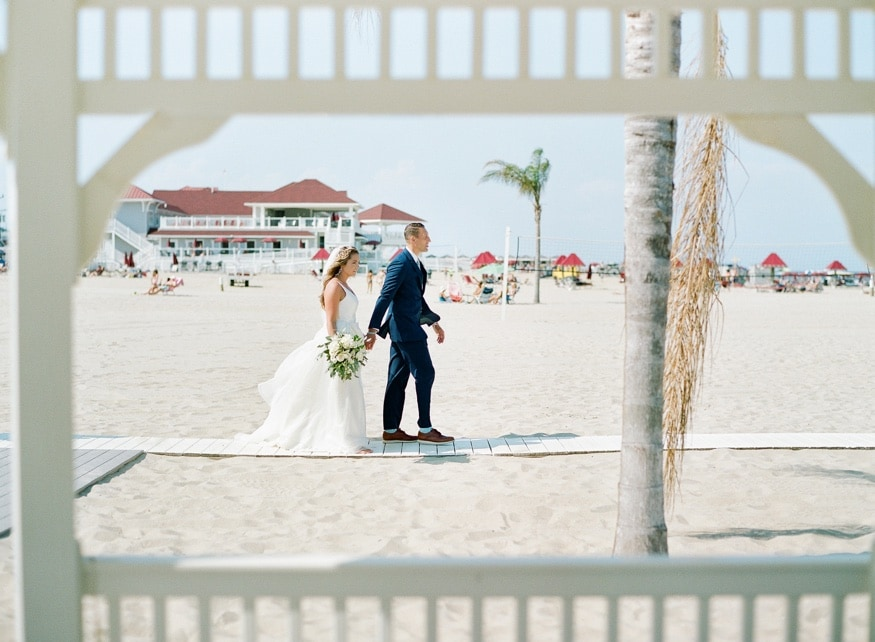 Bride & Groom portraits at Windows on the Water wedding Sea Bright.
