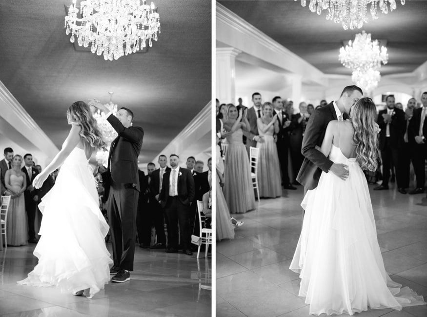 First dance at Windows on the Water wedding at Sea Bright.