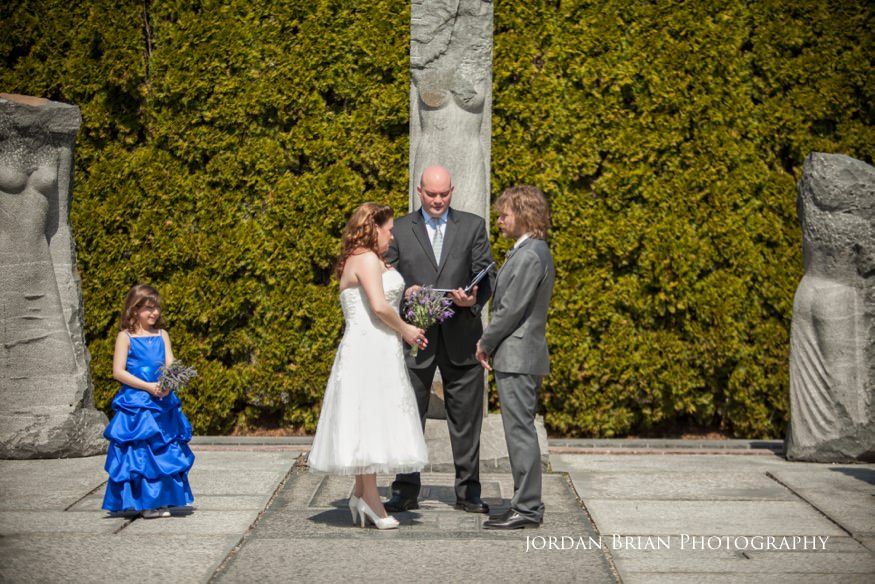"Wedding Ceremony at ""The Nine Muses"" at Grounds for Scultpture"
