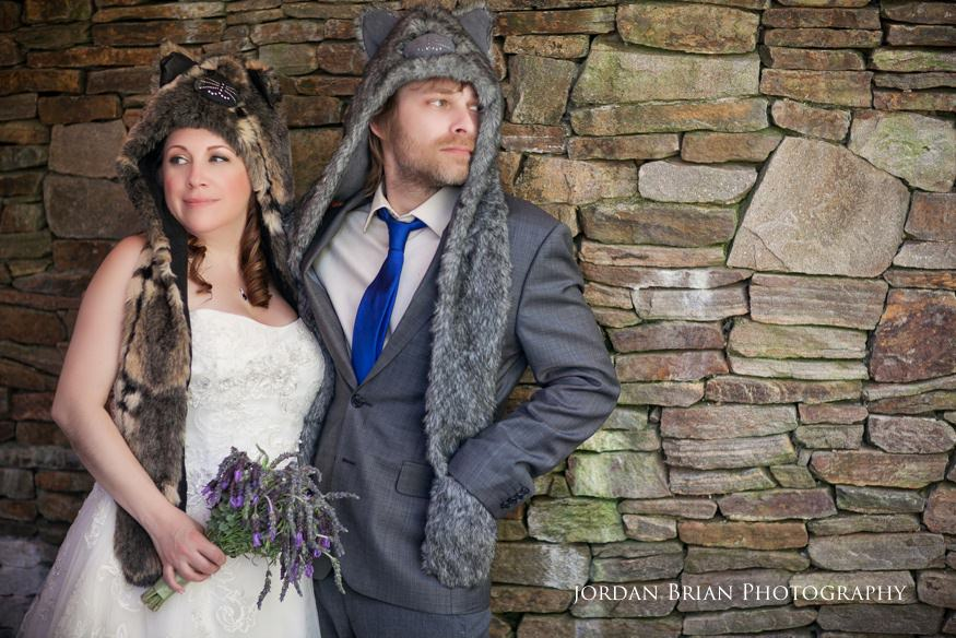 bride and groom portrait at grounds for sculpture rat's wedding