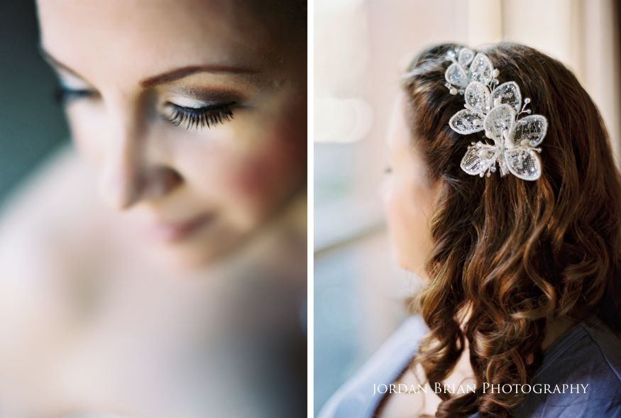 Bride portraits before Grounds for Sculpture wedding