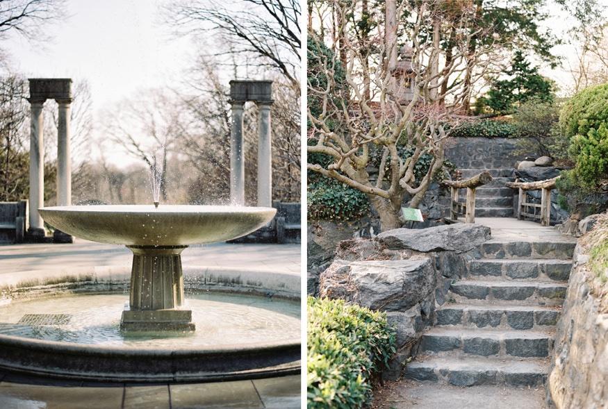 Spring Brooklyn Botanic Garden wedding.