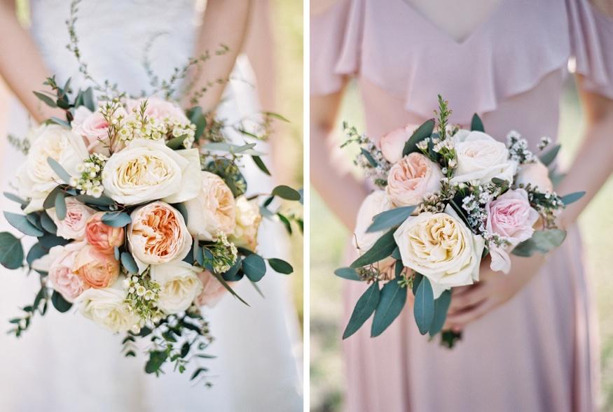 Bridal bouquets by NYC Flower Project at Brooklyn Botanic Garden wedding.