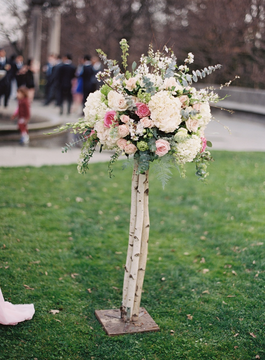 Ceremony details at Brooklyn Botanic Garden wedding.