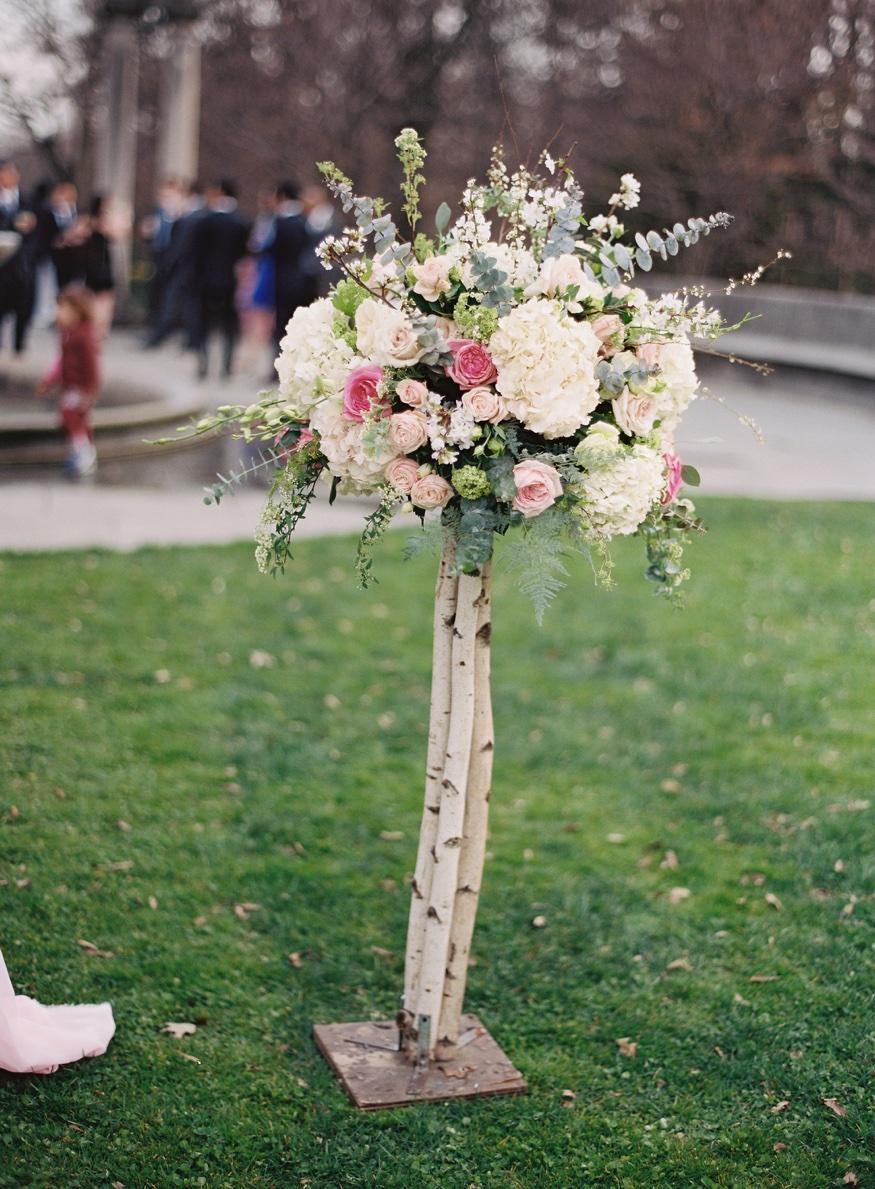 Ceremony details at Brooklyn Botanic Garden wedding.