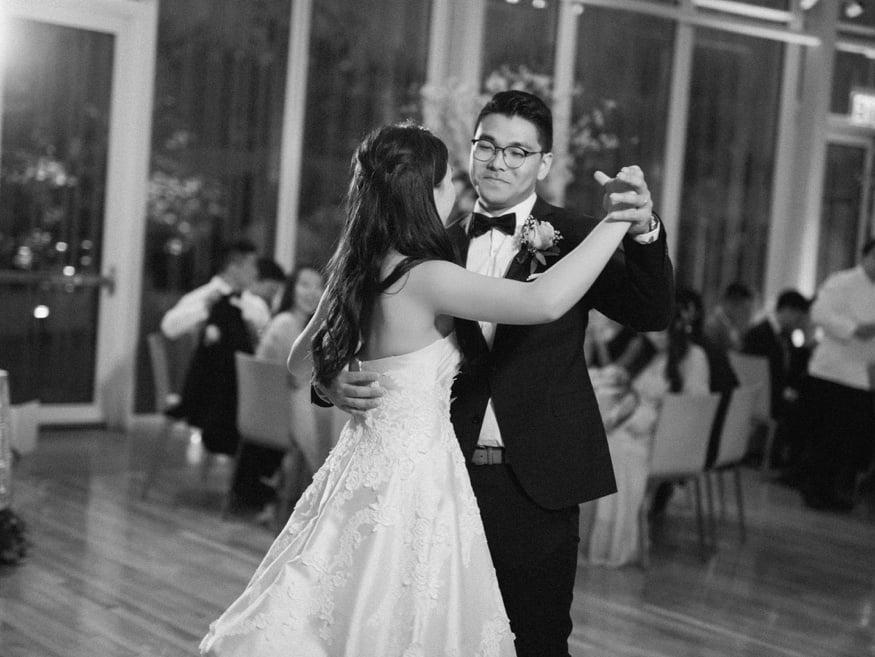 First dance at Brooklyn Botanic Garden wedding.