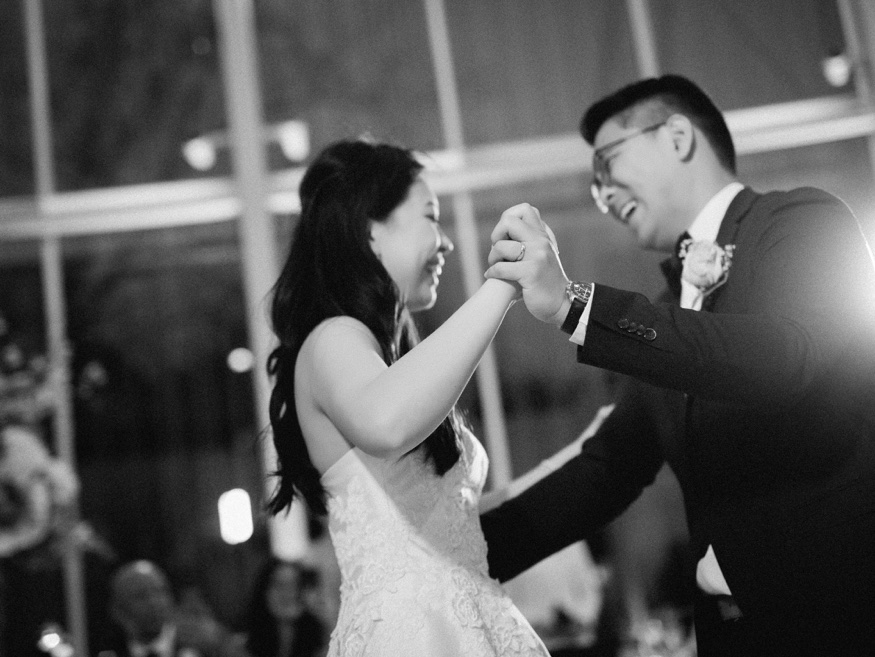First dance at Brooklyn Botanic Garden wedding.